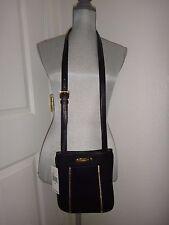 MICHAEL KORS Moxley Women's Cross-body Shoulder Bag Messenger Black Leather Gold