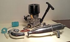RC Car nitro engine + tuned exhaust .18 1/10 (fits HPI Thunder Tiger, Traxxas)