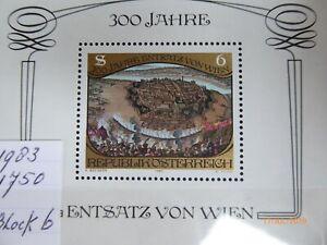 Osterreich Austria 1983 Block 8  mint