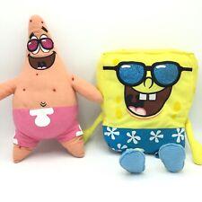 Nickelodeon Spongebob And Patrick Swimming Trunks Glitter Sunglasses Plush