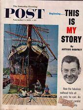 1955 Saturday Evening Post November 5 - Tennessee Vols; Leo Irby; Arthur Godfrey