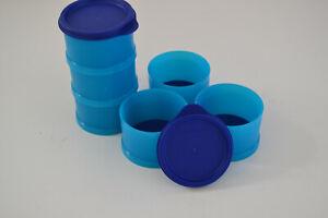 2 er Set Tupperware kleine Stapelei Dessertform blau