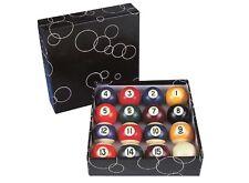 "2 1/4 "" (57mm) Nine Boule 9 Spots et Rayures Table de Billard Balles Pointe"