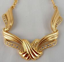 "AVON*UNDENIABLE NECKLACE*GOLD TONE & CRYSTALS ""NIB"" STUNNING MINT CONDITION 1993"