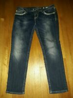 Miss me jeans size 34 Straight Cut Embellished