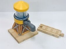 Thomas & Friends Wooden Train Sodor Yellow Water Tower w/ Magnetic Track