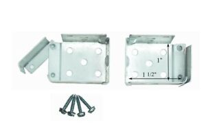 "1 PAIR Standard MINI BLIND Swing Gate END BRACKETS for 1 1/2"" X 1"" Headrails NEW"
