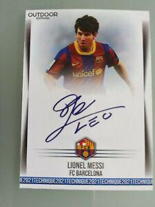 Custom Card Technique 2021 Lionel Messi Barcelona Auto Legend