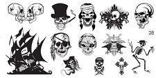 Steampunk Gothic Stamping Schablone MD 28 Platte Plate Skull Schädel Totenkopf