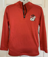 Champion Georgia Bulldogs College Football Boy's Pull Over Red Shirt Jacket NWT