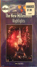 ABC 2000: The New Millennium Highlights (VHS) SEALED: hosted by Peter Jennings