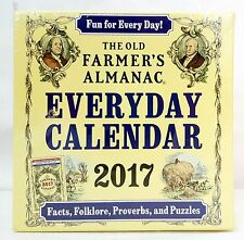 2017 The Old FARMERS ALMANAC Everyday Daily DESK Box CALENDAR Facts Folklore NEW