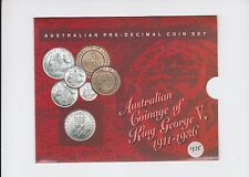 1925 Year Set Birth Birthday Australian Coinage Pre-Decimal Coins inc Silver