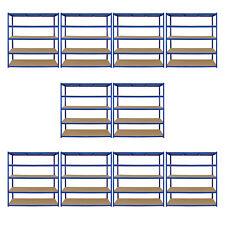 10 Estanterias de Acero Inoxidable Sin Tornillos Azules T-Rax 160cm de Ancho