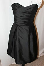 NWT Alfred Sung D538 Black taffeta short formal dress, Size 8  New Years Eve