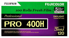 100 Roll Fuji Pro 400H 120 Color Negative Film Daylight 400 FUJIFILM Exp 10/2018