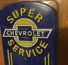 CHEVROLET THERMOMETER CHEVY PARTS GAS & OIL THERMOMETER METAL SIGN SHOP MAN CAVE