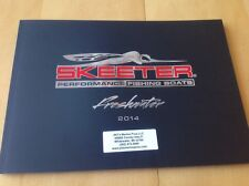 2014 Skeeter Freshwater Multi-Species Bass Fishing Boat Catalog Brochure Angler