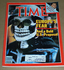EUROPES FEAR REAGAN WEST GERMANY NOVEMBER 30 1981 TIME MAGAZINE VERY GOOD