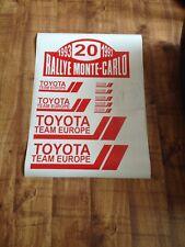 Toyota Celica tte TOYOTA Team Europe RALLYE decals plaque St185 St205