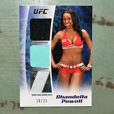 Chandella Powell Card UFC MMA Event Worn Outfit Card 18/25 Topps 2012