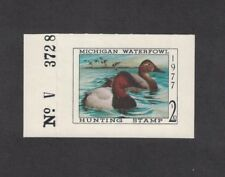 MI2 - Michigan State Duck Stamp.  Plate Numbered Single. MNH. OG.