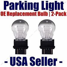 Parking Light Bulb 2-pack OE Replacement Fits Listed Nissan Vehicle 3457K/3357K