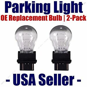 Parking Light Bulb 2-pk OE Replacement Fits Listed Chevrolet Vehicle 3457K/3357K