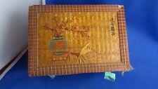 ancienne  boite epoque 1900 en  marqueterie paille de riz chine chinois coffret