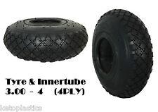 Chariot pneumatique 3,00 - 4 (260 x 85) avec tube intérieur (4 plis) sack truck bent valve