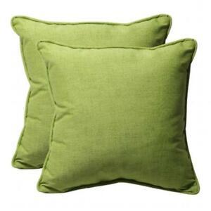 Pillow Perfect 451633 Baja Lime Green 18.5-Inch Throw Pillow (Set of 2)