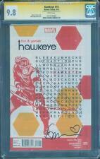 Hawkeye 15 CGC SS 9.8 Fraction Crossword Cover Top 1 Avengers Infinity War