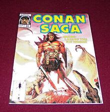 Conan Saga #37 (April, 1990 Marvel) Comic Magazine Barbarian Buscema Art