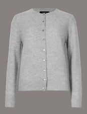 Brand New Ex Marks & Spencer Pure Cashmere Crew Neck Cardigan Size 10
