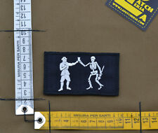"Ricamata / Embroidered Patch ""Bartholomew Robert Pirate"" with VELCRO® brand hook"