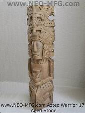 "History Aztec Maya Mesoamerica Medicine Man Artifact Stelae Sculpture Statue 17"""