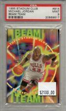 Michael Jordan 1995-96 Topps Stadium Club Beam Team #B14 Bulls PSA 9