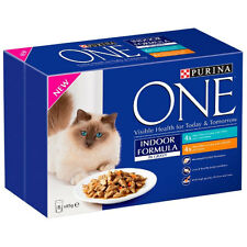 Purina One Indoor Cat - Chicken & Tuna in Gravy Pouch 8x85g