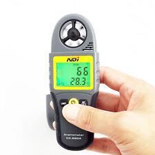 Digital Anemometer Thermometer Gauge Meter Handheld Surfing Air Wind Speed + Lid