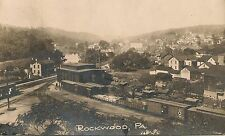 General View of Rockwood PA and Freight Yard RP Postcard 1911