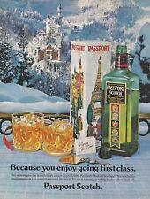 PASSPORT SCOTCH Blended Scotch Whisky BAVARIA 1982 Vintage Print Ad # 120 1.