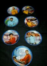 New ListingStar Trek Plates - Hamilton Collection - Complete Character Set of 7 Plates!