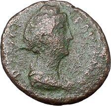 FAUSTINA I Antoninus Pius Wife Ancient Roman Coin Vesta Home Family  i40850