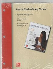 Managerial Accounting Ken Shaw John Wild Loose Leaf unused text McGraw Hill