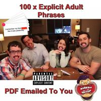 100 x Extra Adult Phrases For Speak Out & Watch Ya Mouth Game PDF COPY
