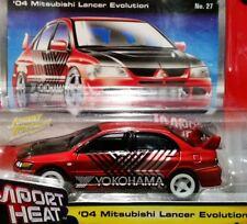JOHNNY LIGHTNING 04 2004 MITSUBISHI LANCER EVO STREET FREAKS IMPORT HEAT CAR