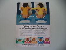 advertising Pubblicità 1982 PANNOLINO PAMPERS