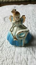 Vintage! Josef Originals 9th Birthday Angel Figurine Nine Blue Wand