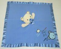 Carter's Classics Hug a Bear Huggable Cuddly Blue Security Blanket Baby Lovey