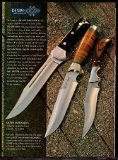 1995 DEXIM Hunting Knives Knife PRINT AD Advertising Page